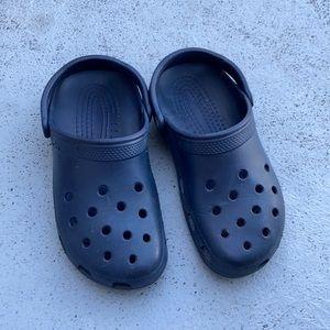 Crocs dark blue original classic clogs